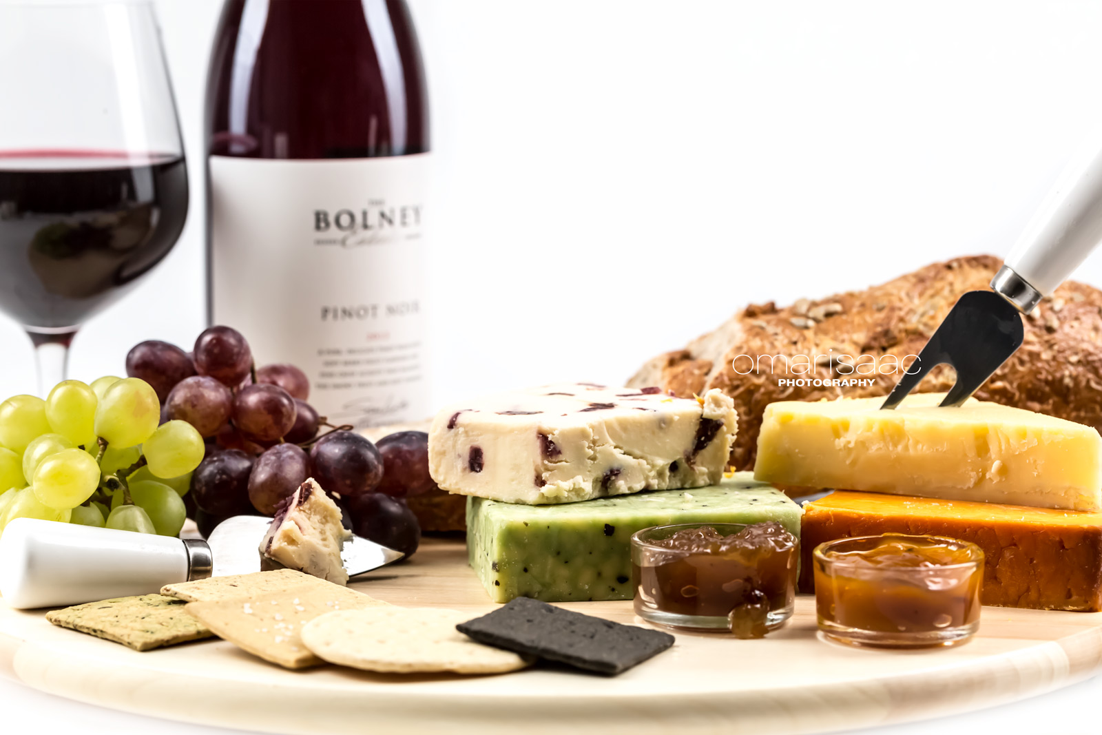 Grapes, Wine, crackers & Cheese